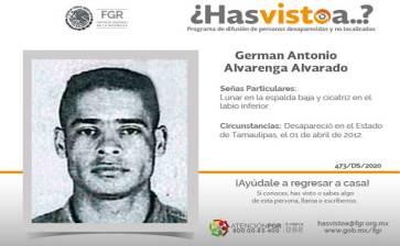 ¿Has visto a Germán Antonio Alvarenga Alvarado?