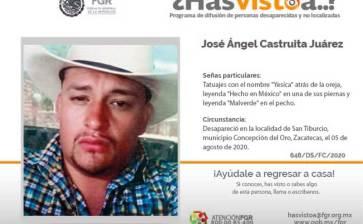 ¿Has visto a José Angel Castruita Juárez?