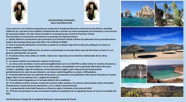 """Convocan al """"Poemario Virtual de Baja California Sur"""""""