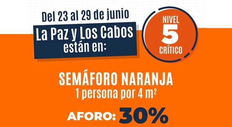 """Retroceden La Paz y Los Cabos a nivel 5 """"crítico"""""""