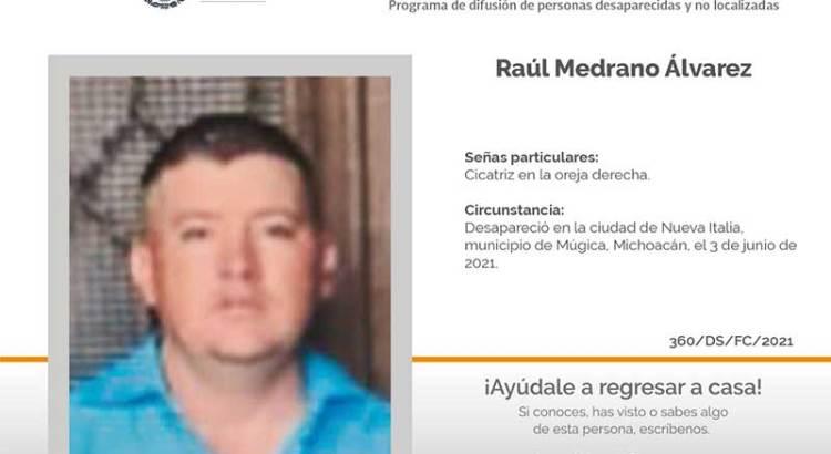¿Has visto a Raúl Medrano Álvarez?