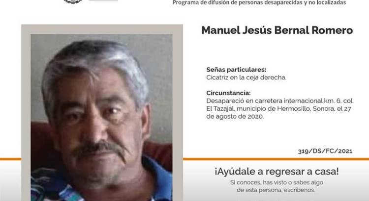 ¿Has visto a Manuel Jesús Bernal Romero?
