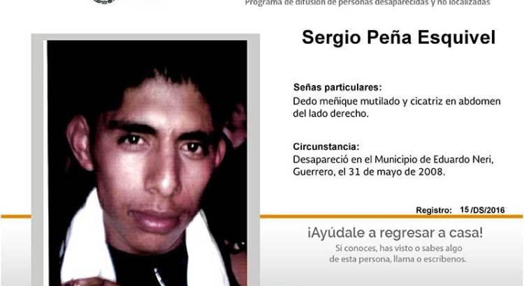 ¿Has visto a Sergio Peña Esquivel?
