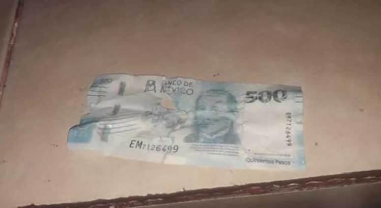 ¡Aguas! Circulan en Los Cabos billetes falsos de a 500 pesos