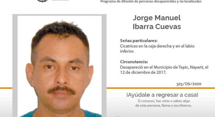 ¿Has visto a Jorge Manuel Ibarra Cuevas?