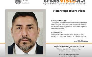 ¿Has visto a Víctor Hugo Rivera Pérez?