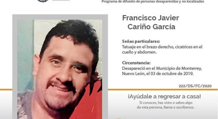¿Has visto a Francisco Javier Cariño García?