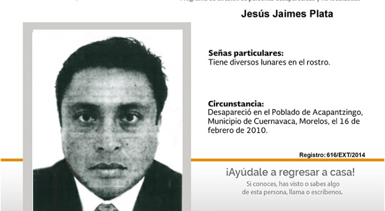 ¿Has visto a Jesús Jaimes Plata?