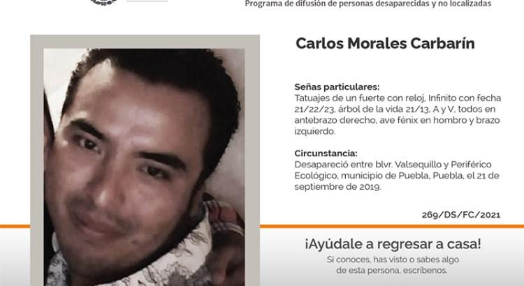 ¿Has visto a Carlos Morales Carbarín?