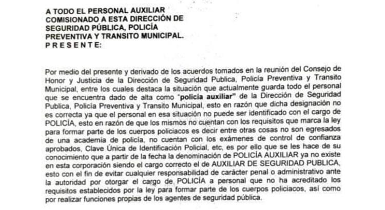 Desconoce el Ayuntamiento mulegino a sus policías