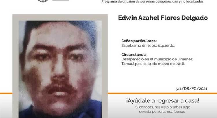 ¿Has visto a Edwin Azahel Flores Delgado?