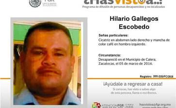 ¿Has visto a Hilario Gallegos Escobedo?