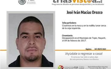 ¿Has visto a José Iván Macías Orozco?