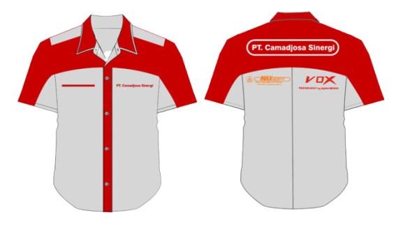 desain seragam kantor kombinasi
