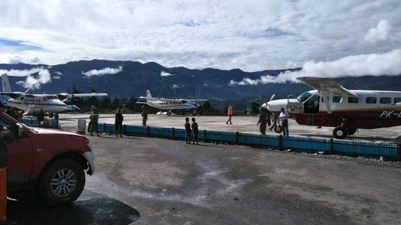 Situasi di Bandara Ilaga