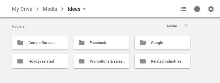 google drive ideas folder
