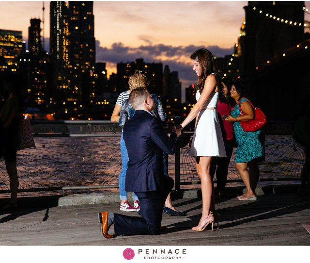 Sunset Surprise Proposal In Brooklyn
