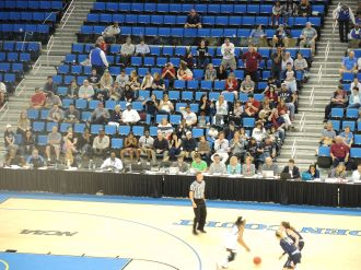 Penn section at the NCAA Women's Basketball tournament at UCLA Penn vs Texas A&M