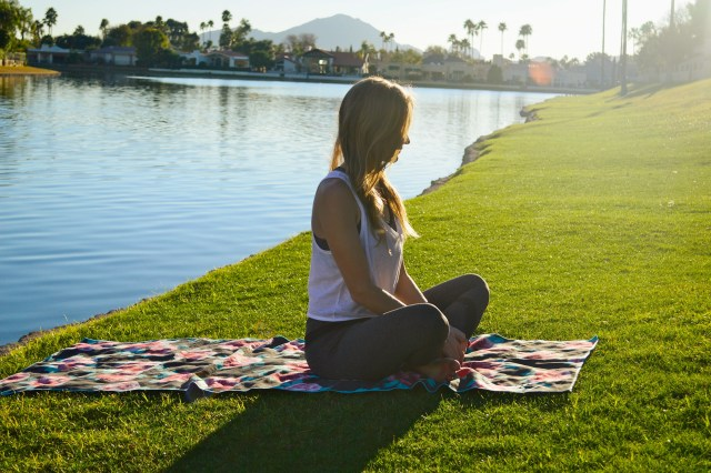 3 Steps to Quiet Your Mind During Yoga including a Yoga playlist