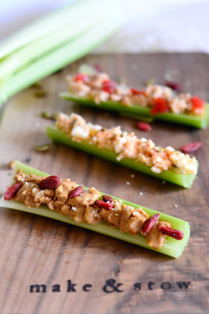 Three delicious and healthy on the go celery snacks