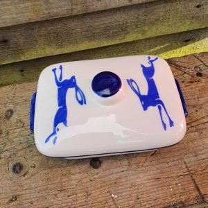 Running Hare butter dish