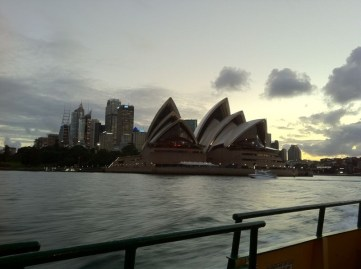Sydney Opera House from the ferry, by Penne Cole