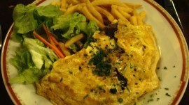 Omelette with cepes, by Penne Cole