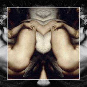 The mirrored image resembles the ink blots of the Rorschach tests.