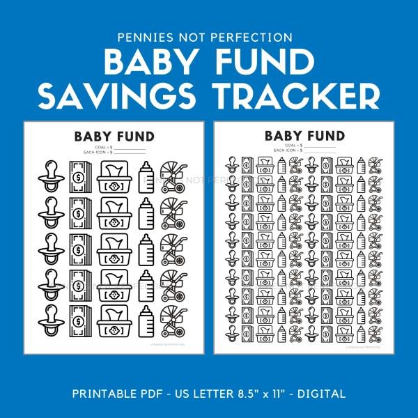 Baby Savings Tracker | Baby Fund Savings Tracker Printable