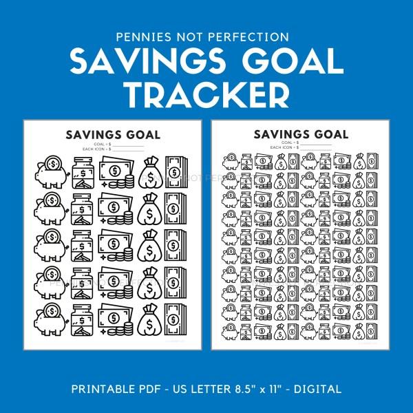 Savings Goal Tracker | Savings Printable | Savings Tracker 1