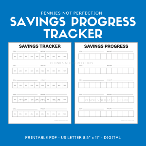 Savings Progress Tracker | Savings Tracker Printable PDF 1