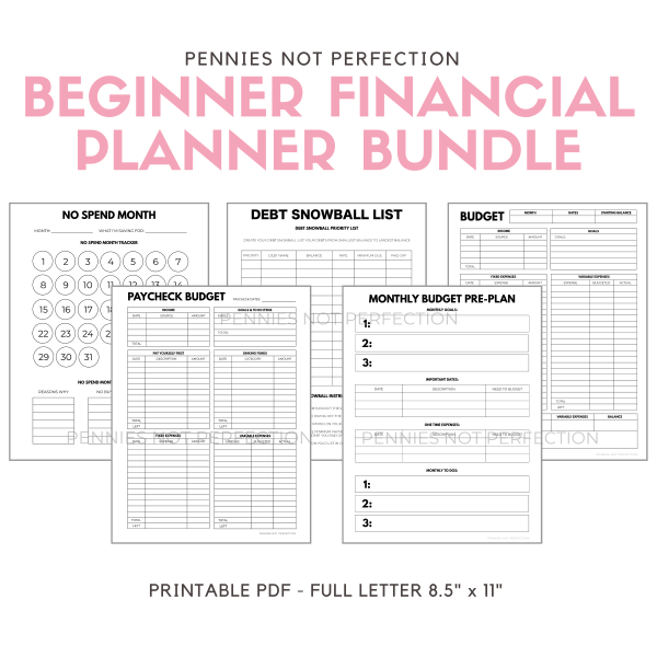 Budget Planner Printable Bundle | Financial Printable Bundle | Budgeting, Savings, Debt Payoff 6