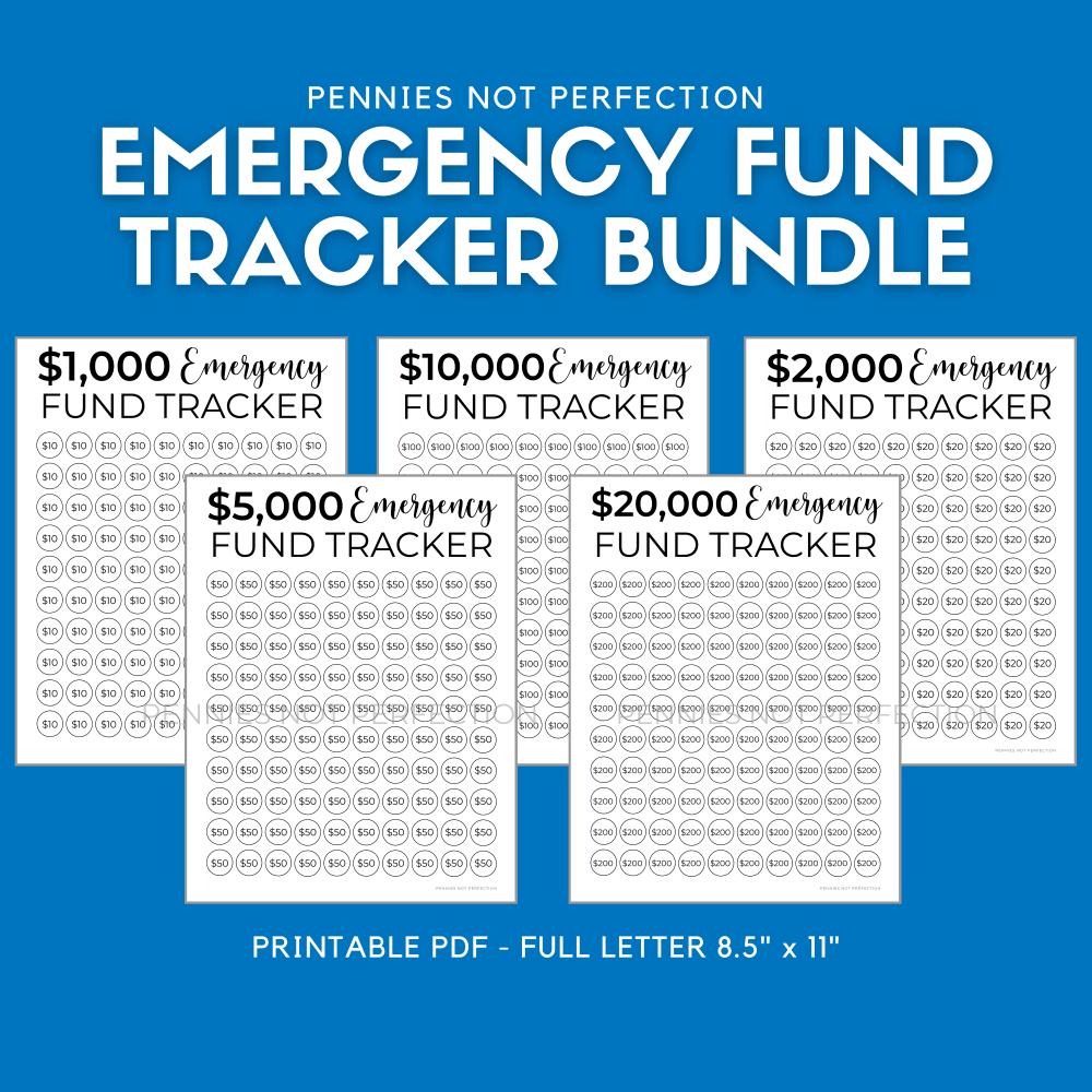 Emergency Fund Savings Tracker Bundle | Emergency Savings Printable By Amount 1