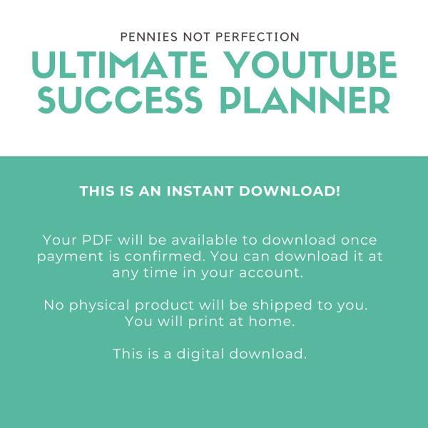 YouTube-Success-Planner-Printable-Guide-To-YouTube-Content-Channel-Success-Worksheets-Checklists-Youtuber-Planner