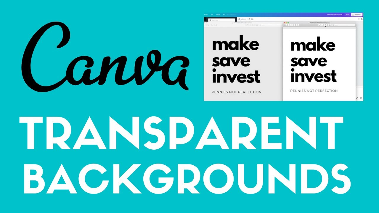 how to make transparent backgrounds in canva