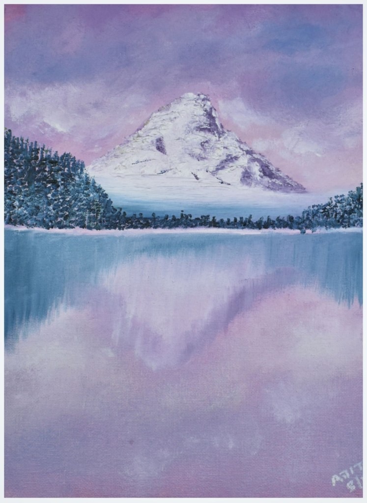 Mountain Oil Painting, Beginner