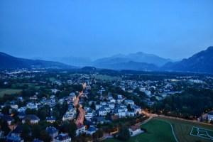 City views from the inside Hohensalzburg fortress, Salzburg, Austria