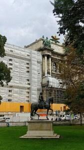 Equestrian statue of Kaiser Franz I in Burggarten, Vienna, Austria