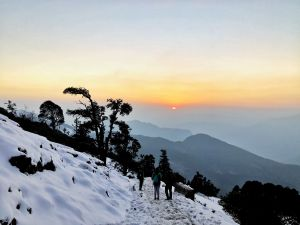 Sunset while hiking down from Tunganath temple to Chopta, Uttrakhand