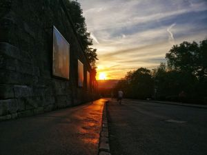 Sunset at Citadella in Budapest, Hungary