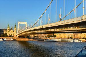 Elizabeth bridge in Budapest, Hungary