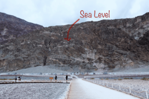 Sea Level marked
