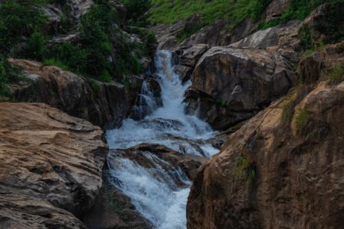 Closer view of Attukad Waterfalls
