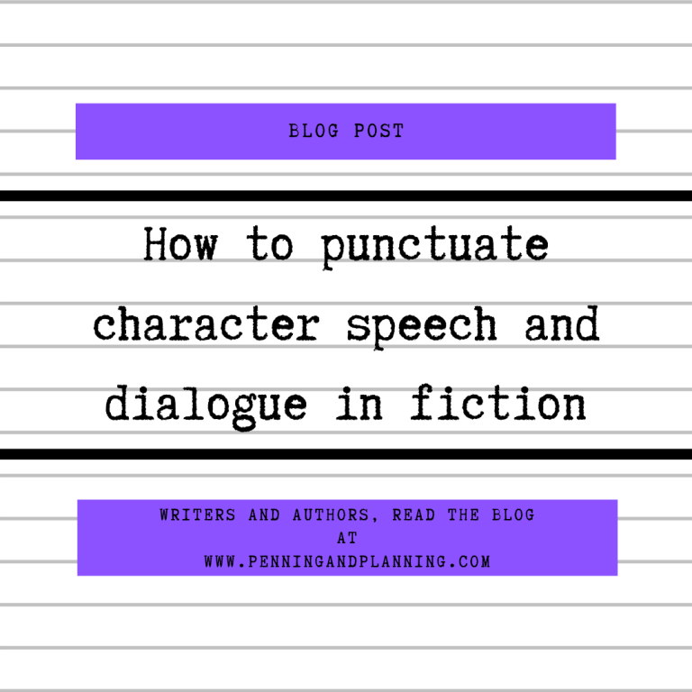 How to punctuate character speech and dialogue in fiction