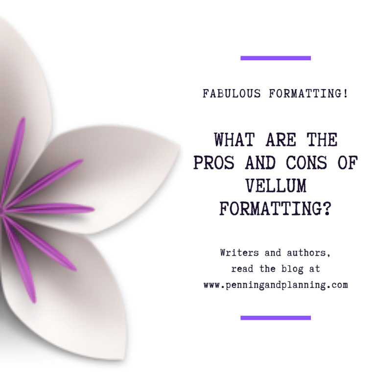 What are the pros and cons of Vellum formatting?
