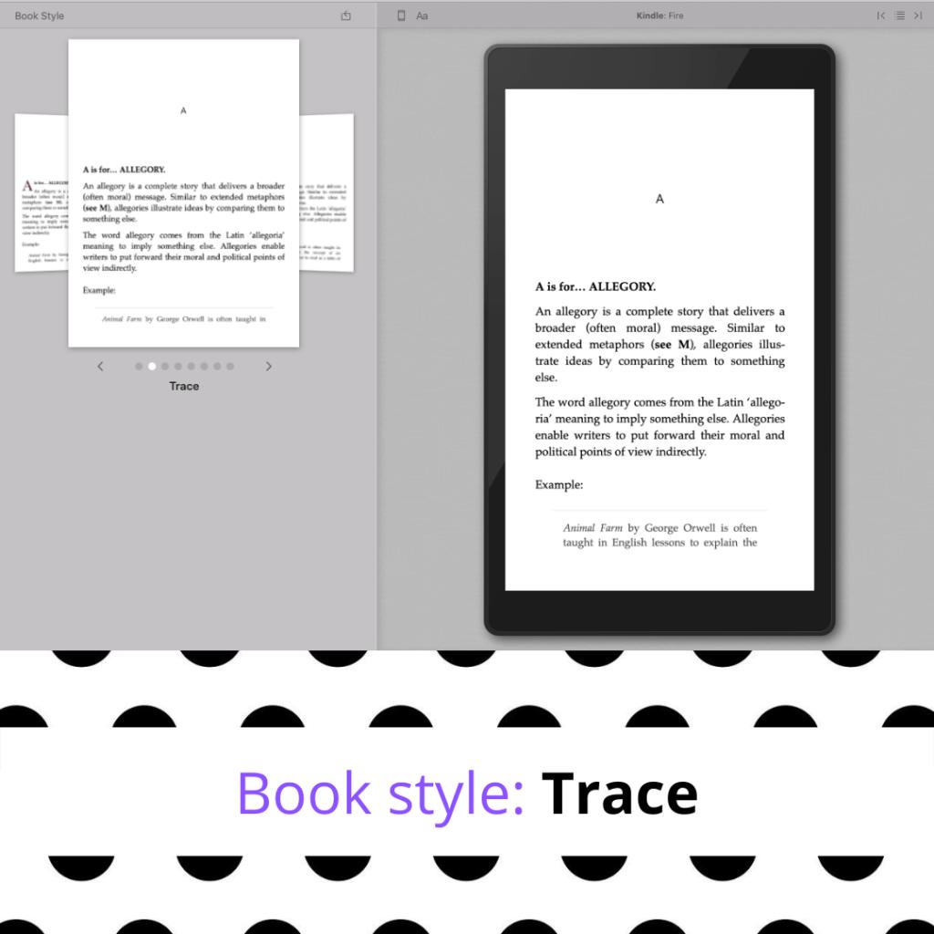 Trace Vellum book style