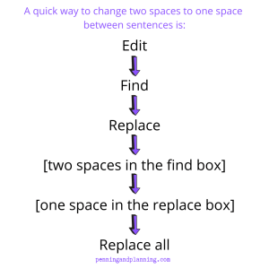 Change two spaces to one in a Word document