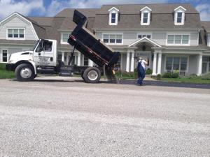 Residential parking and drive oil and chip paving | Penninger Residential & Commercial Asphalt Paving