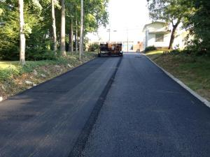 Our blacktop paving crew in action in southern Illinois! | Penninger Residential & Commercial Asphalt Paving