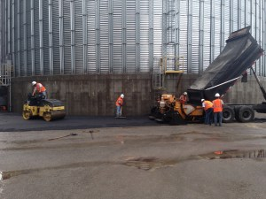 New blacktop asphalt paving at a plant in southern Illinois | Penninger Residential & Commercial Asphalt Paving
